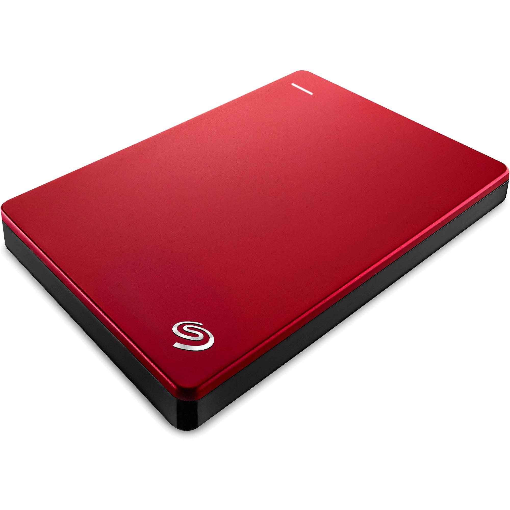 Backup Plus Slim 1TB disco duro externo 1000 GB Rojo, Unidad de disco duro