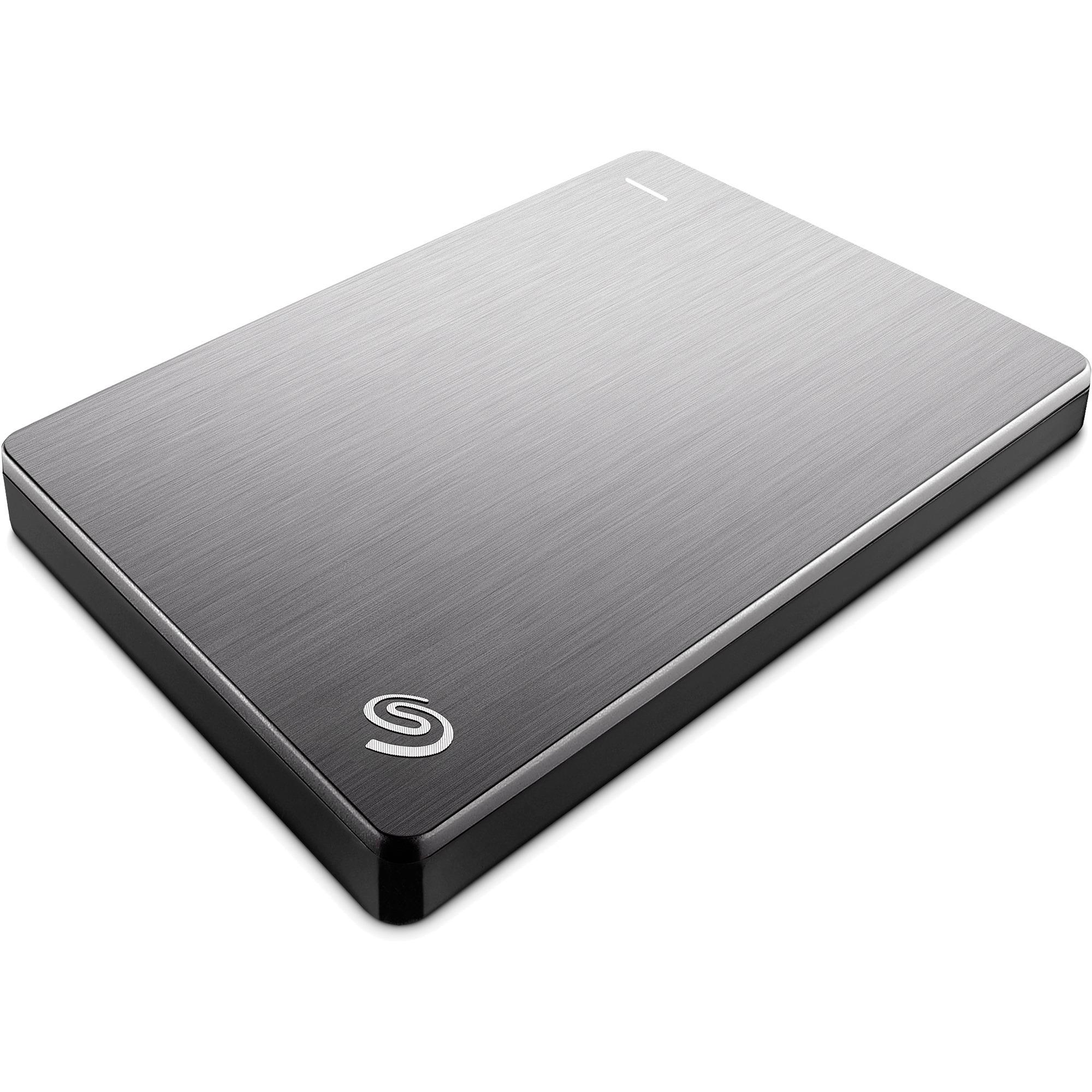 Backup Plus Slim Portable 2TB disco duro externo 2000 GB Plata, Unidad de disco duro