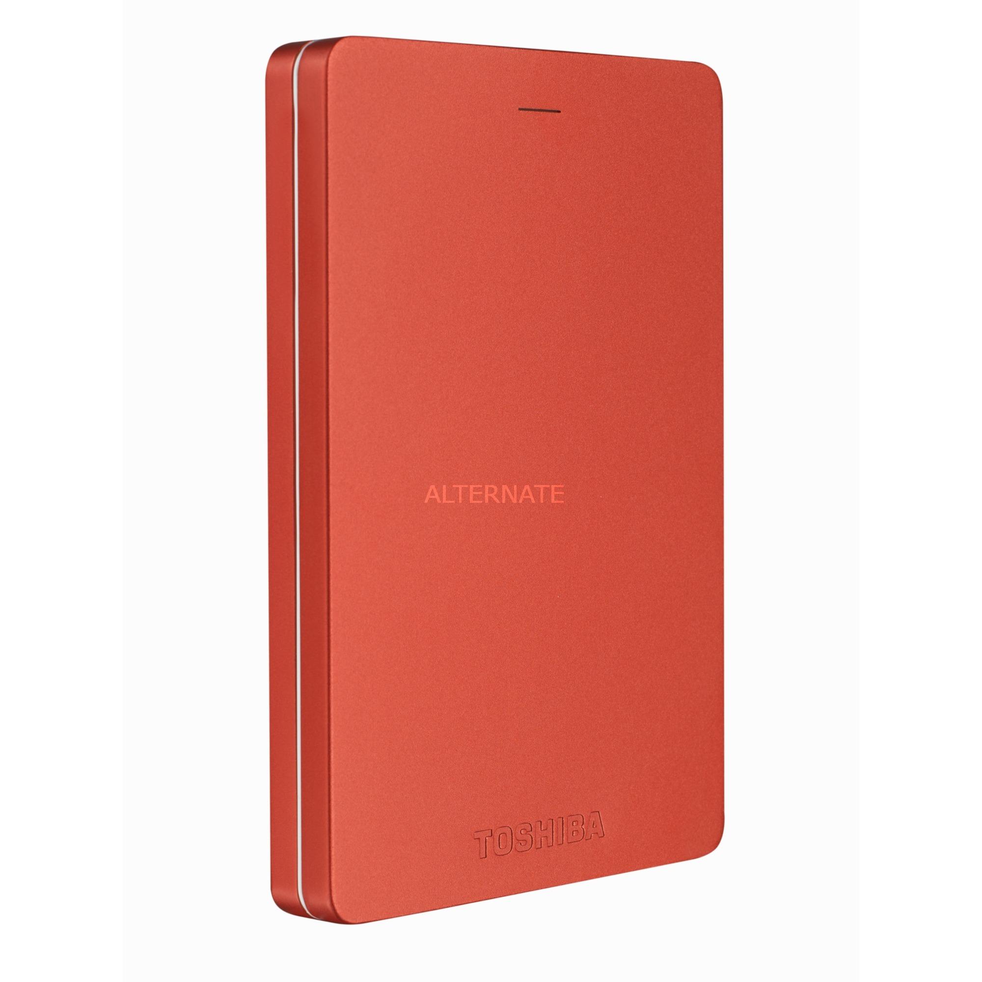 Canvio Alu 1 TB disco duro externo 1000 GB Rojo, Unidad de disco duro