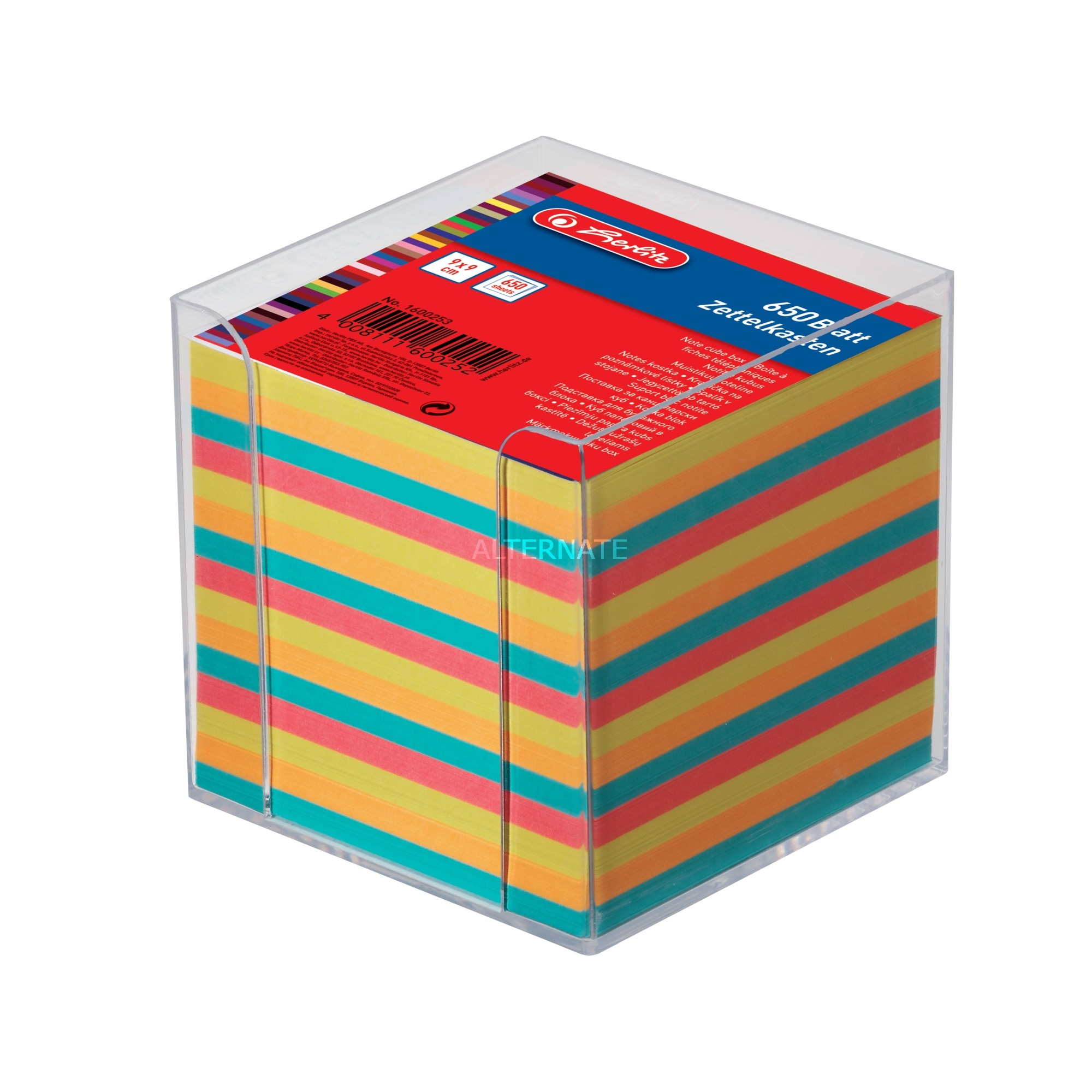 01600253 nota autoadhesiva Plaza Multicolor, Organizador