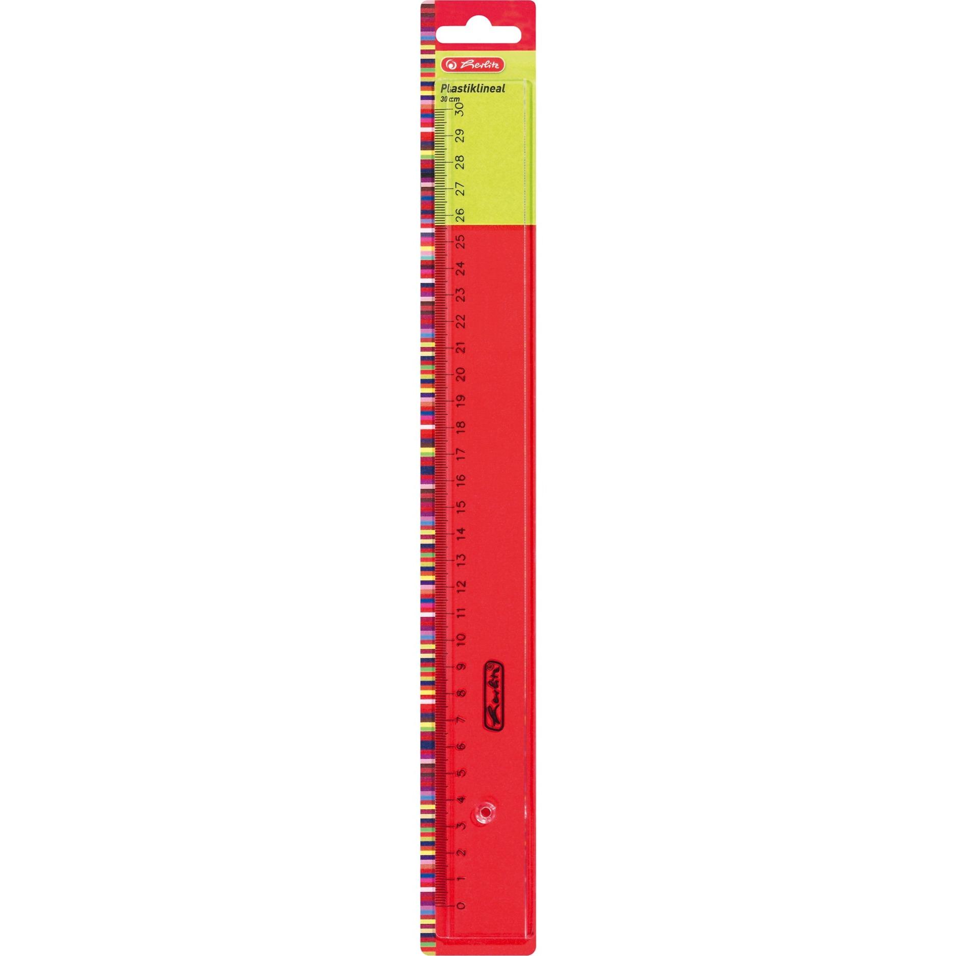 08700106 Line gauge 300mm De plástico Transparente 1pieza(s) cirterio, Regla