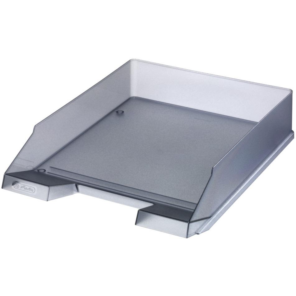 10074144 De plástico Gris, Translúcido bandeja de escritorio, Bandeja de cartas