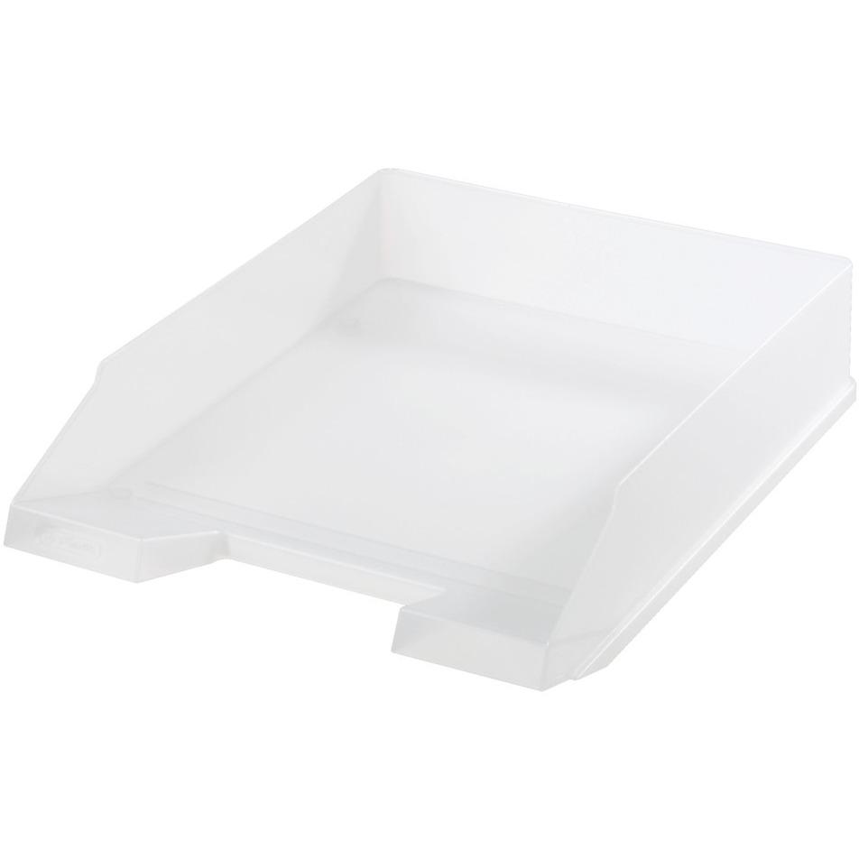 10167401 De plástico Translúcido, Color blanco bandeja de escritorio, Bandeja de cartas