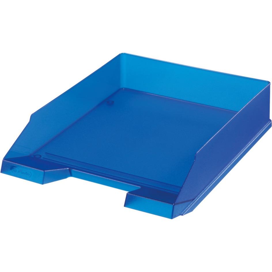 10493716 De plástico Azul, Translúcido bandeja de escritorio, Bandeja de cartas