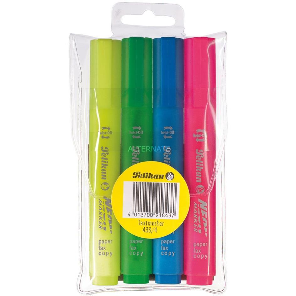 918433 marcador Azul, Verde, Rosa, Amarillo 4 pieza(s), Conjunto