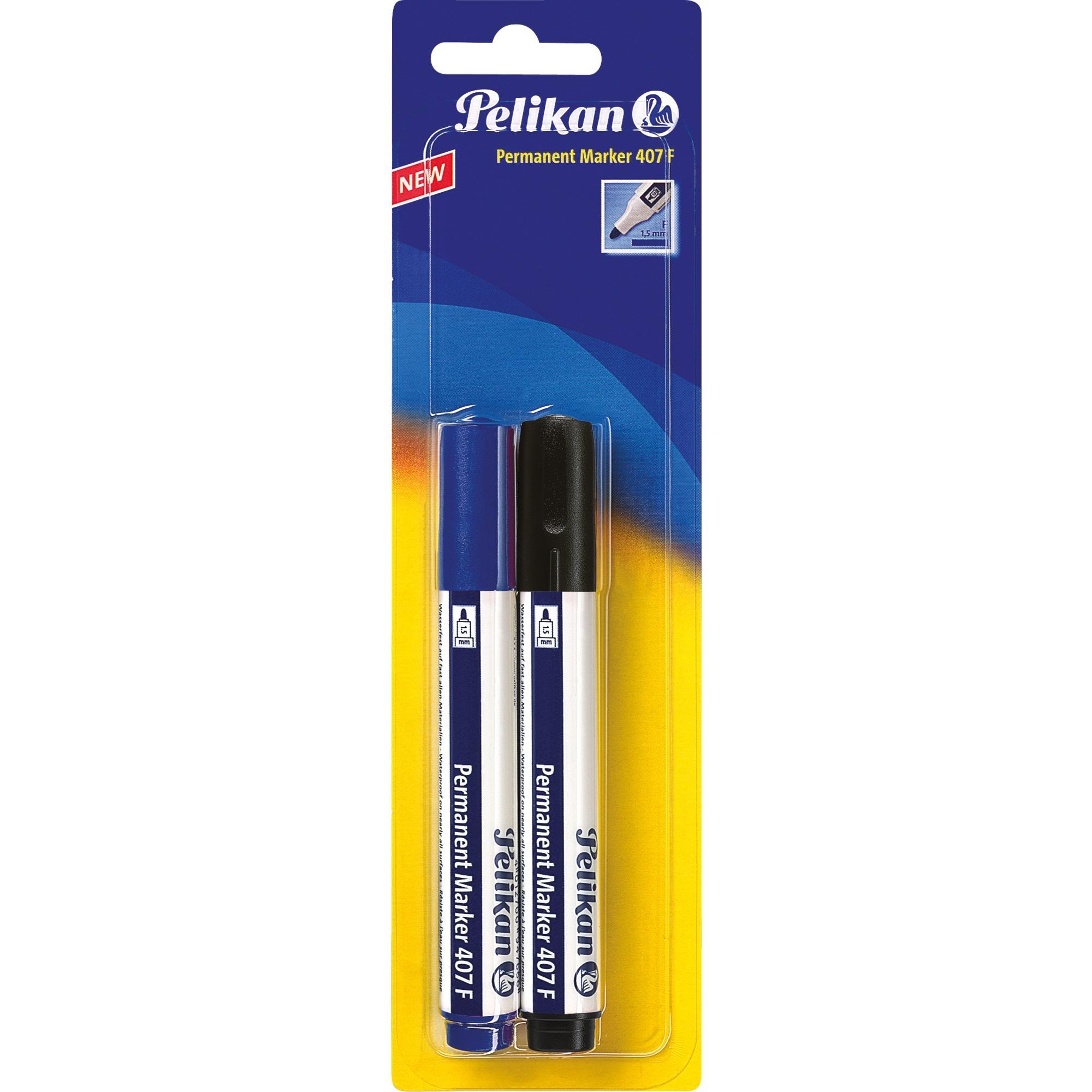 950170 marcador permanente Negro, Azul 2 pieza(s), Conjunto