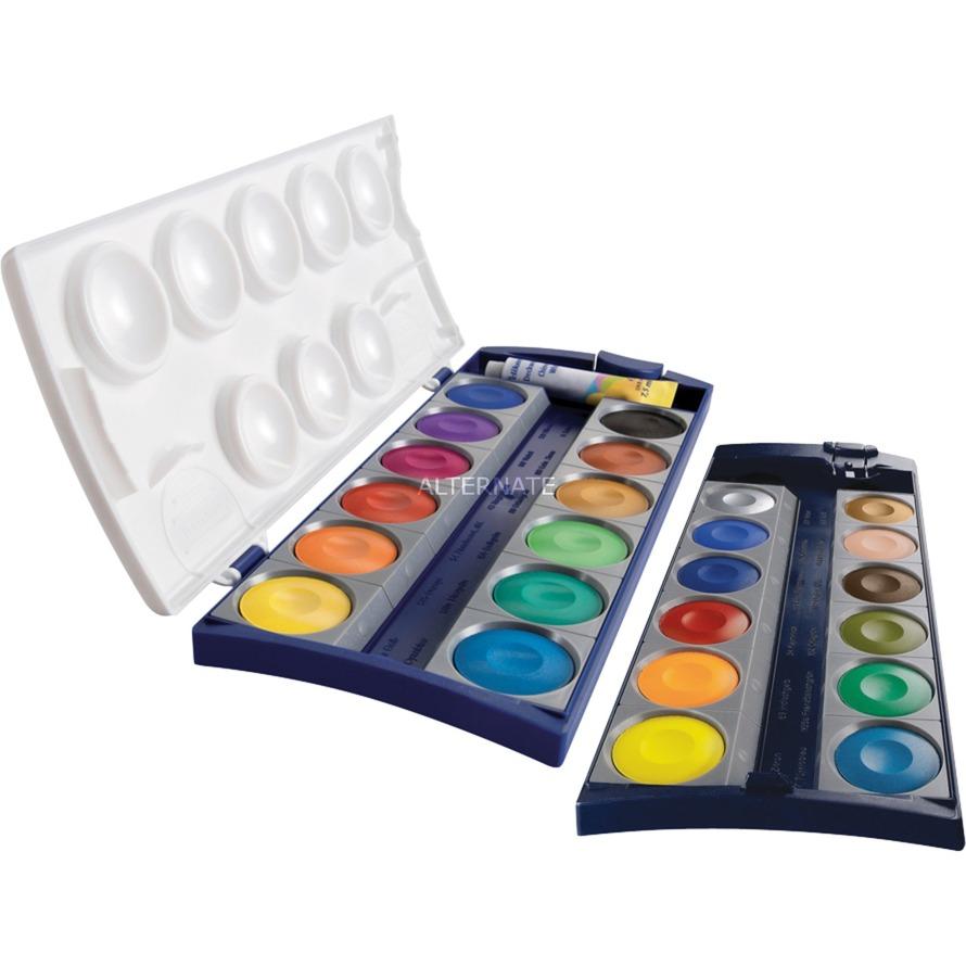 K24 pintura a base de agua Negro, Azul, Cian, Verde, Naranja, Amarillo 24 pieza(s), Caja de pintura