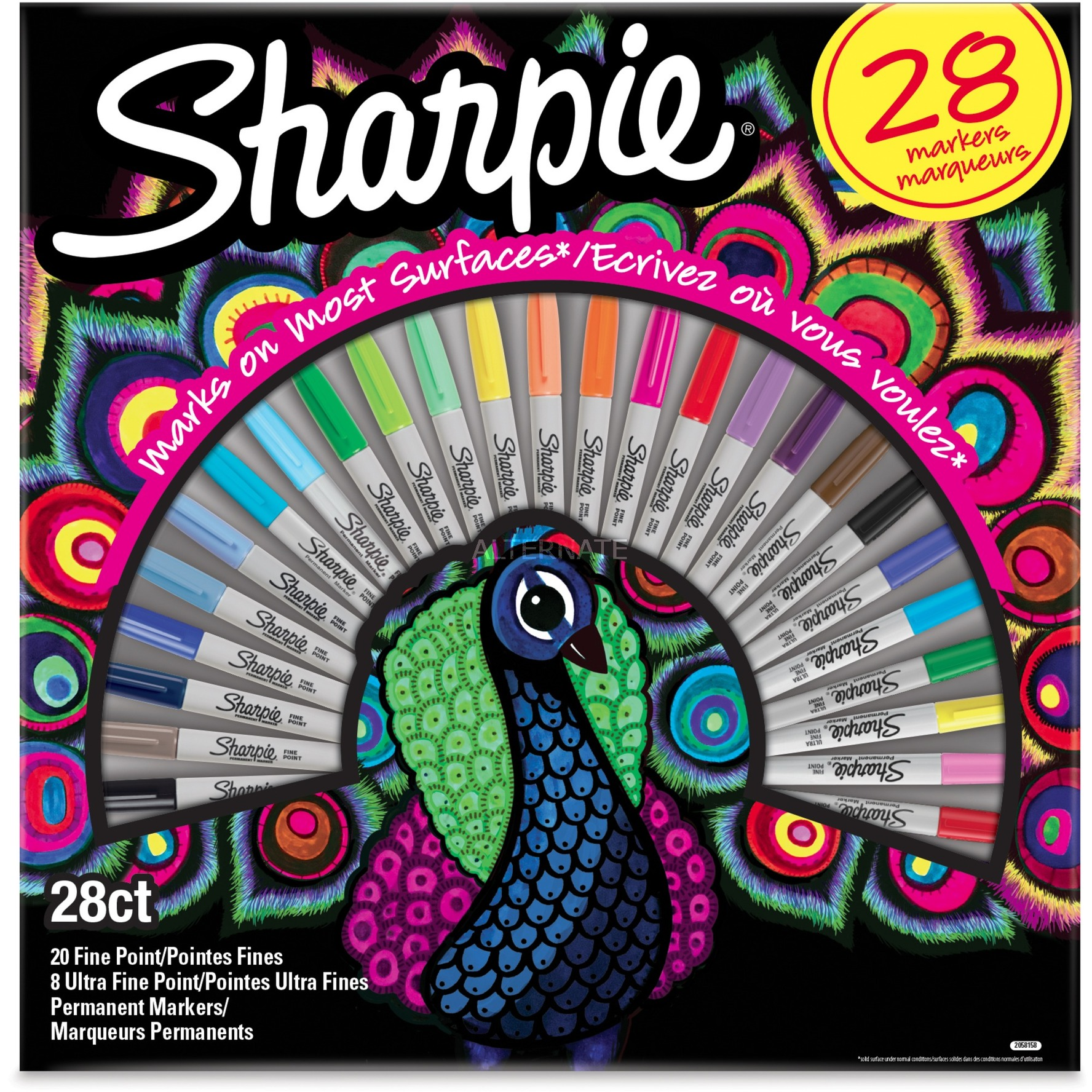 2058158 marcador 28 pieza(s) Multicolor Punta fina, Lápiz