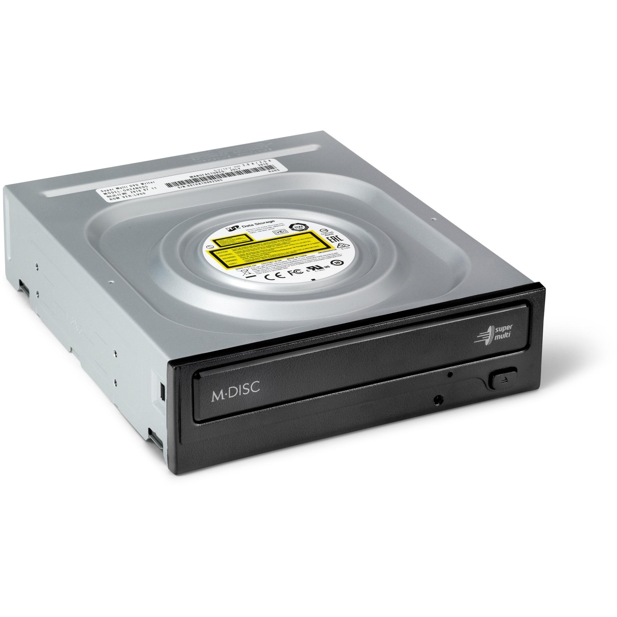 GH24NSD5 unidad de disco óptico Interno Negro DVD Super Multi DL, Regrabadora DVD
