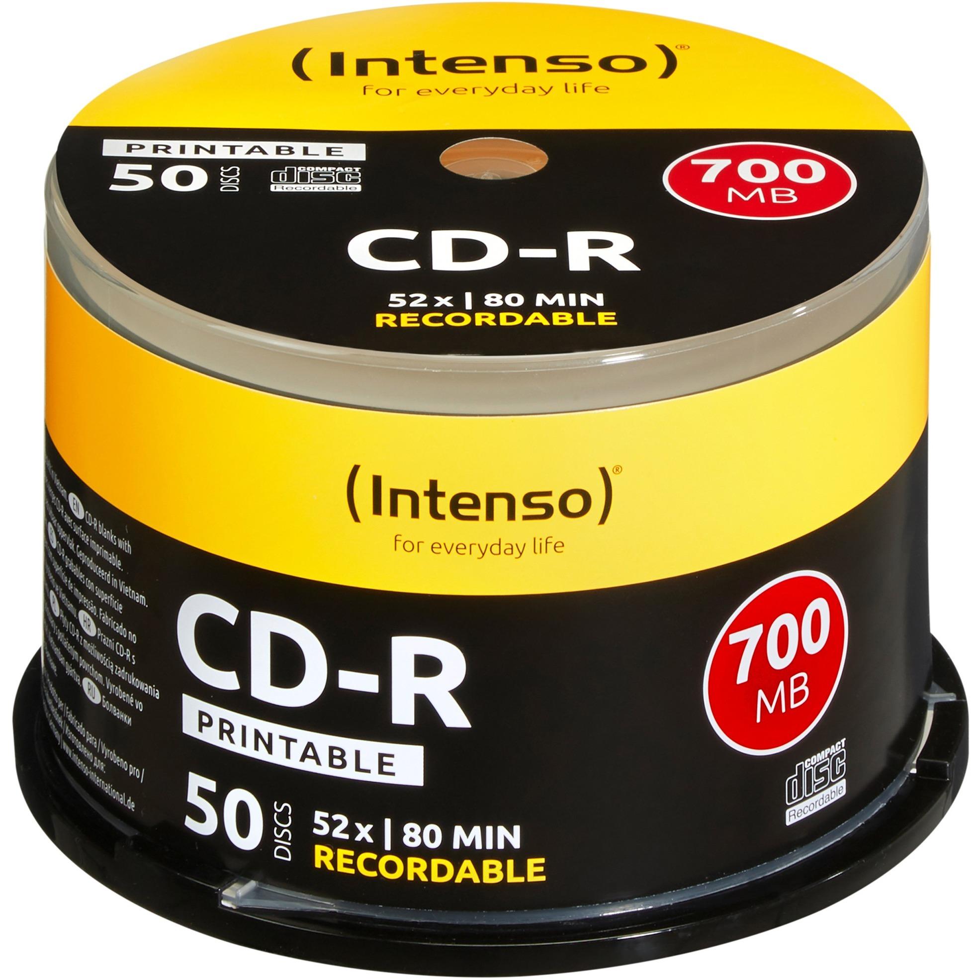 1801125 CD en blanco CD-R 700 MB 50 pieza(s), CDs vírgenes