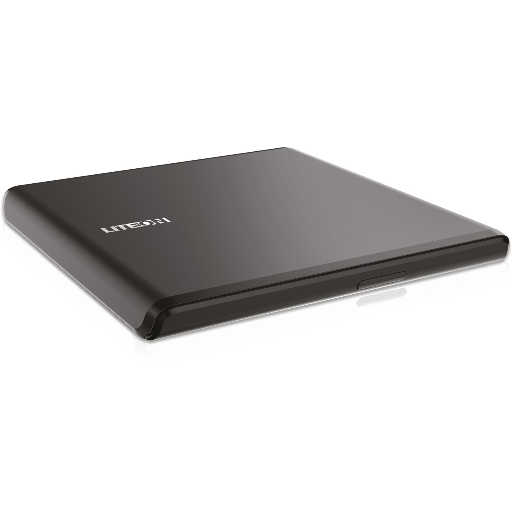 ES1 unidad de disco óptico Negro DVD±RW, Regrabadora DVD