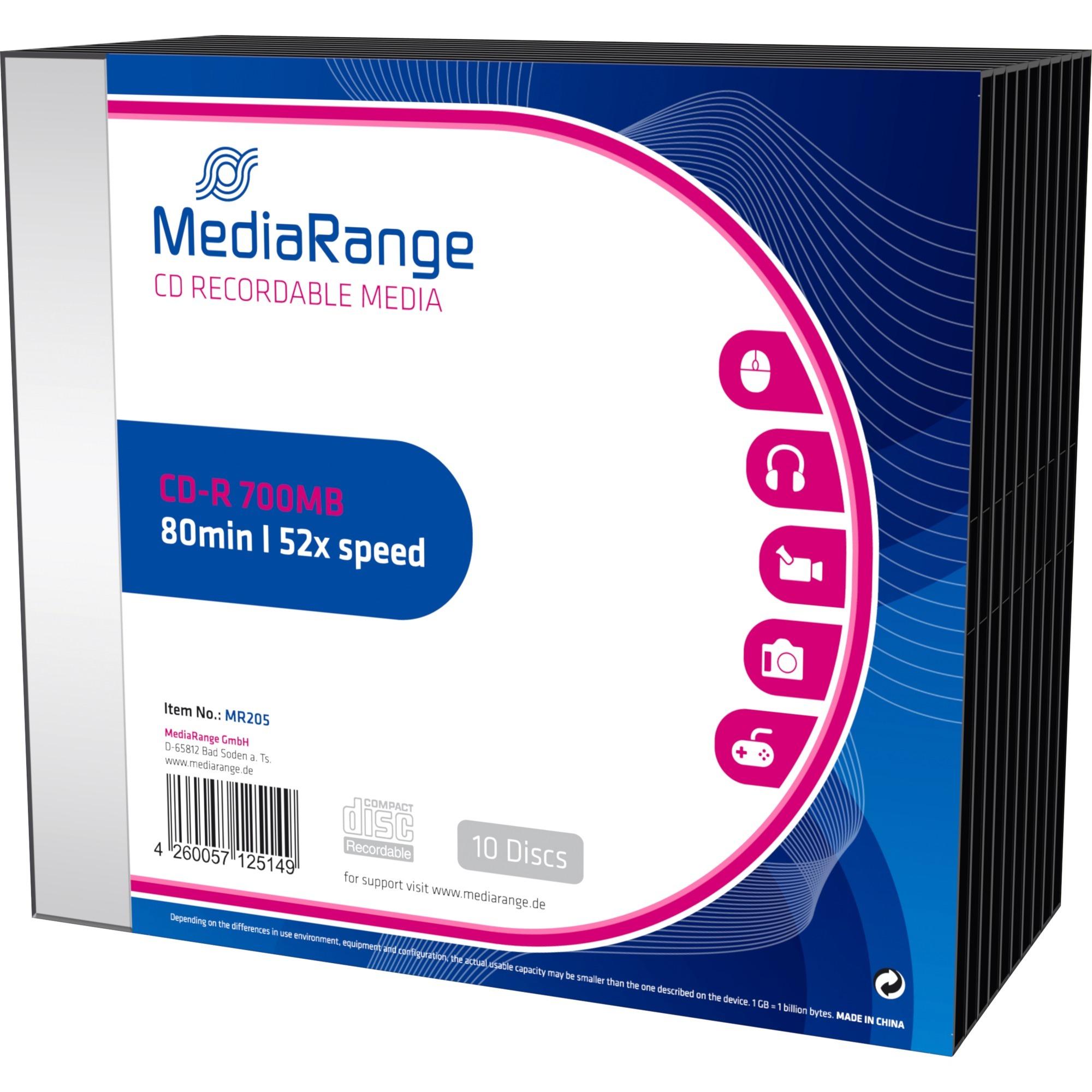 700MB, CD-R, 10 pack CD-R 700MB 10pieza(s), CDs vírgenes