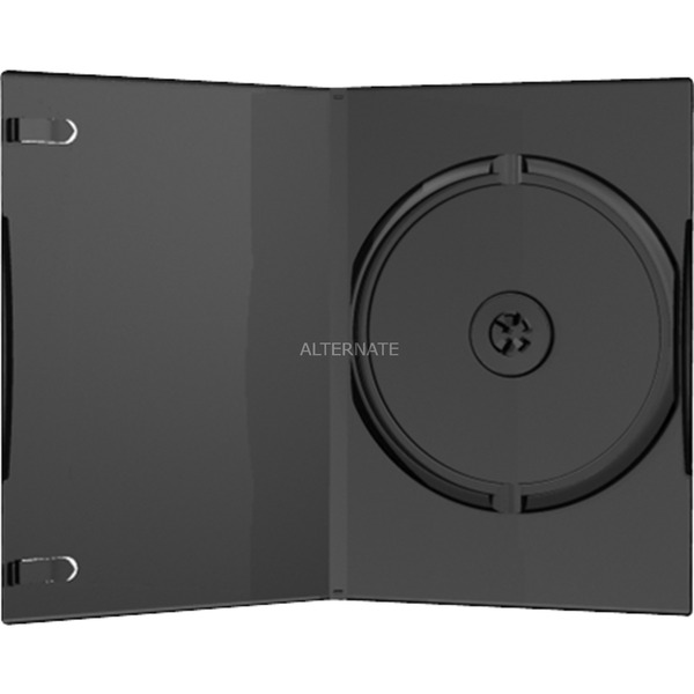 BOX11 Funda de DVD 1discos Negro funda para discos ópticos, Funda protectora