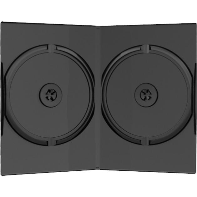 BOX12 funda para discos ópticos Funda de DVD 2 discos Negro, Funda protectora