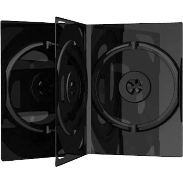 BOX15 funda para discos ópticos Funda de DVD 3 discos Negro, Funda protectora