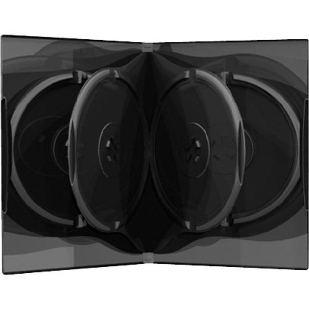 BOX16 funda para discos ópticos Funda de DVD 6 discos Negro, Funda protectora