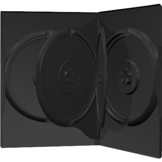 BOX17 funda para discos ópticos Funda de DVD 4 discos Negro, Funda protectora
