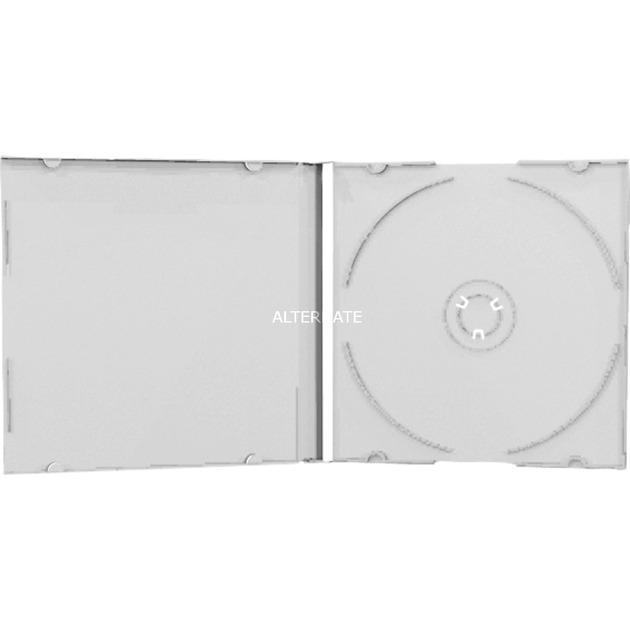 BOX20 funda para discos ópticos Caja transparente para CD 1 discos Transparente, Funda protectora