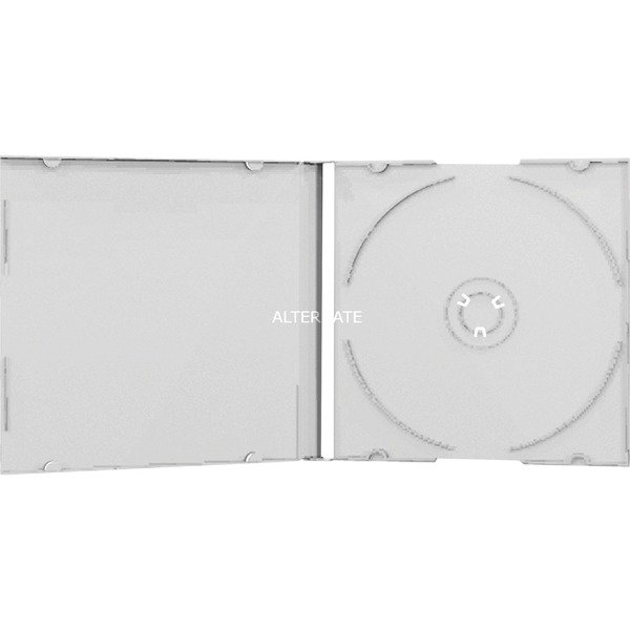 BOX24 funda para discos ópticos Caja transparente para CD 1 discos Transparente, Funda protectora