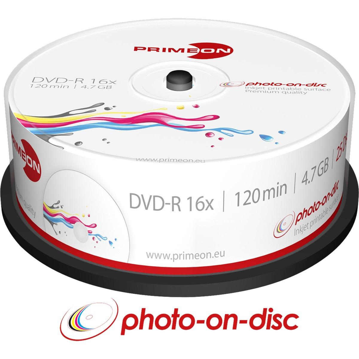 2761205 4.7GB DVD-R 25pieza(s) DVD en blanco, DVDs vírgenes