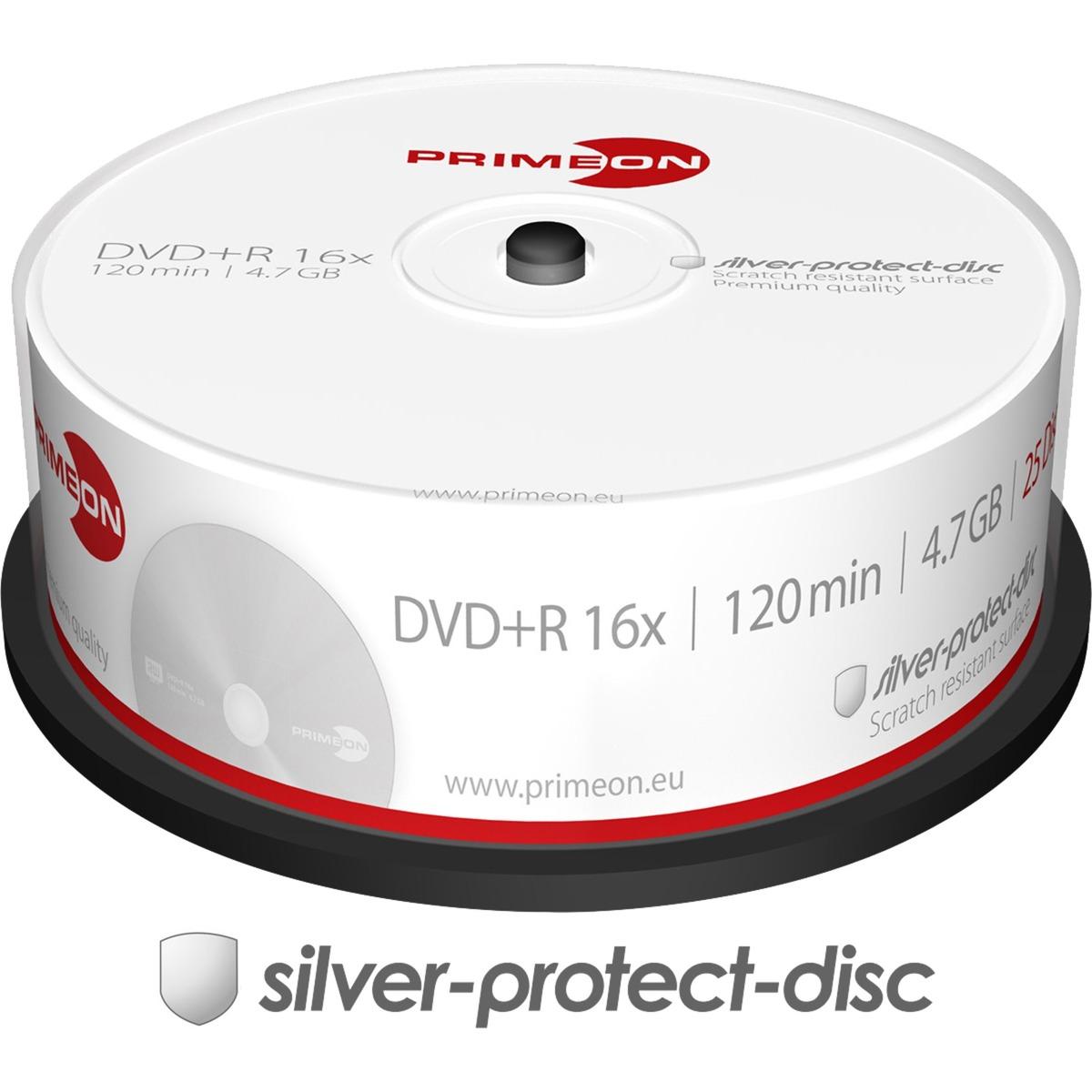 2761223 4.7GB DVD+R 25pieza(s) DVD en blanco, DVDs vírgenes