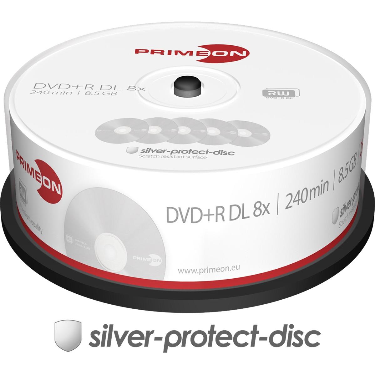 2761251 8.5GB DVD+R DL 25pieza(s) DVD en blanco, DVDs vírgenes