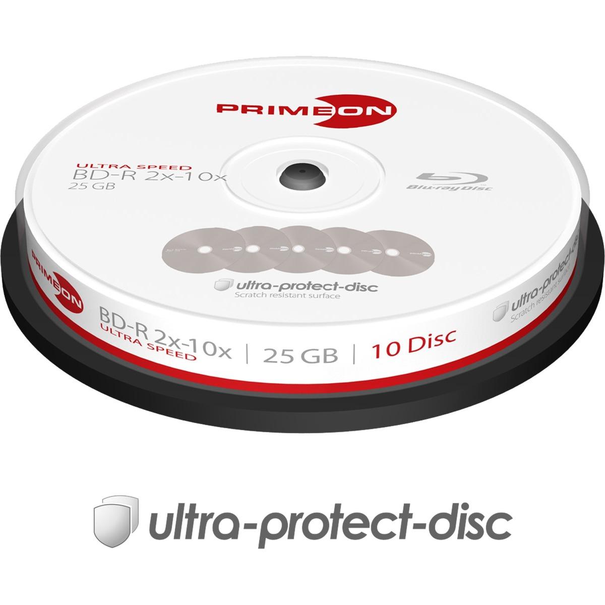 2761307 disco blu-ray lectura/escritura (BD) BD-R 25 GB -, 10, Discos Blu-ray vírgenes