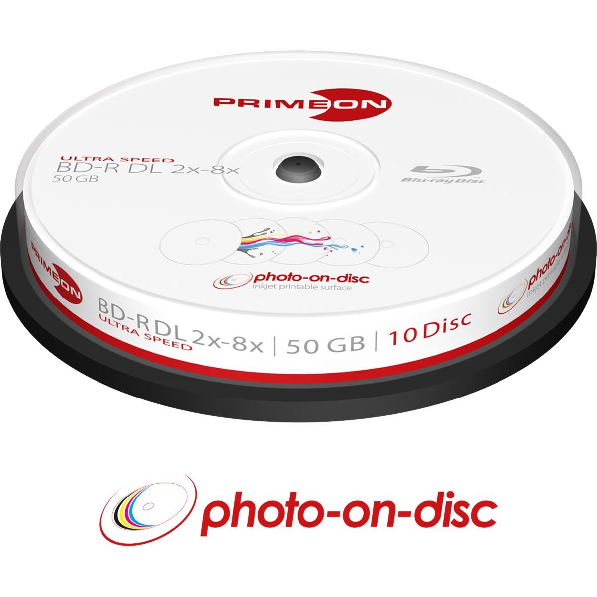 2761312 disco blu-ray lectura/escritura (BD) BD-R DL 50 GB -, 10, Discos Blu-ray vírgenes