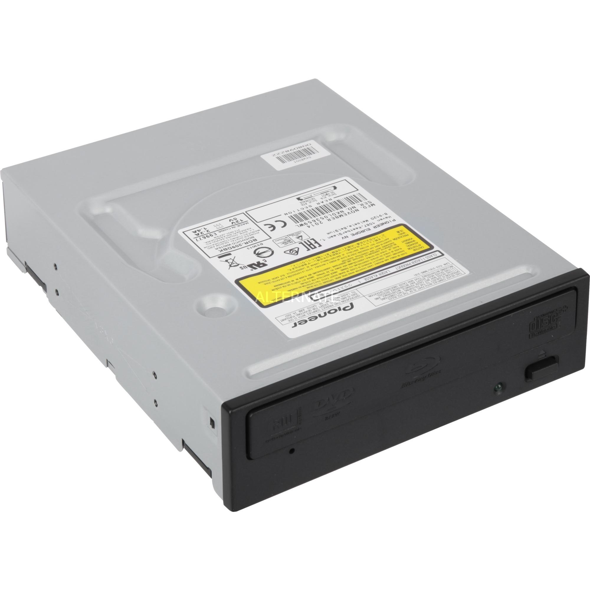 BDR-209DBK unidad de disco óptico Interno Negro Blu-Ray DVD Combo, Regrabadora Blu-ray