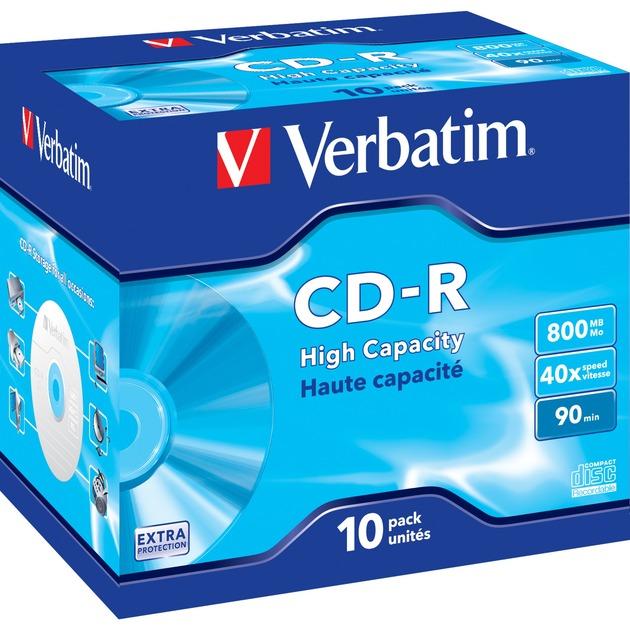 43428 CD en blanco CD-R 800 MB 10 pieza(s), CDs vírgenes