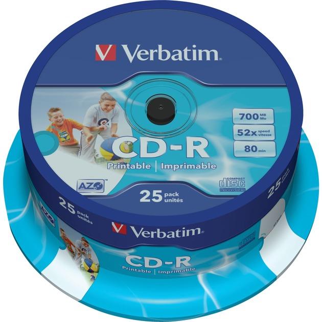 43439 CD en blanco CD-R 700 MB 25 pieza(s), CDs vírgenes
