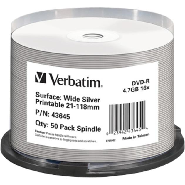 43645 4.7GB DVD-R 50pieza(s) DVD en blanco, DVDs vírgenes