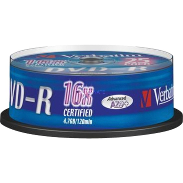 43667 4,7 GB DVD-R 25 pieza(s), DVDs vírgenes