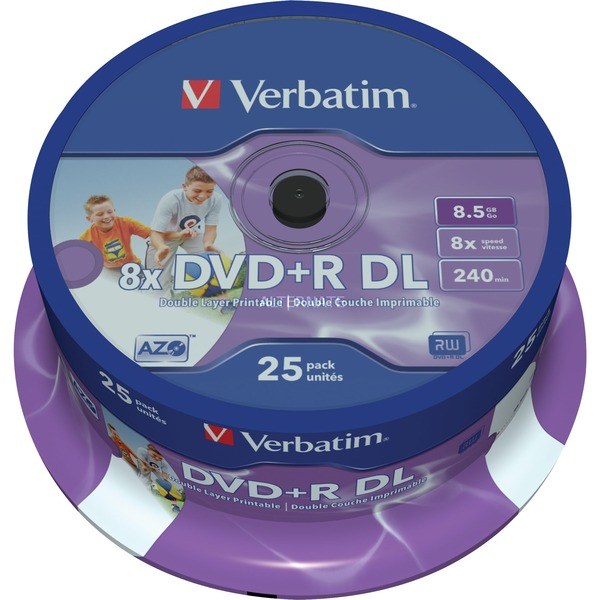 43667 DVD en blanco 8,5 GB DVD+R DL 25 pieza(s), DVDs vírgenes