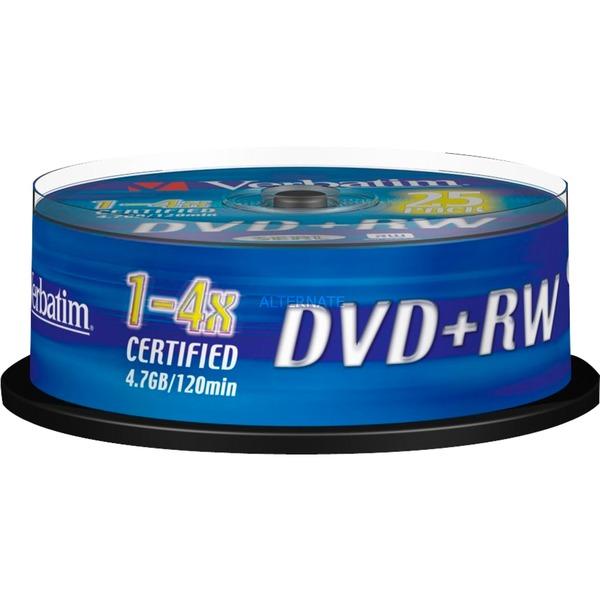DVD+RW Matt Silver 4,7 GB 25 pieza(s), DVDs vírgenes