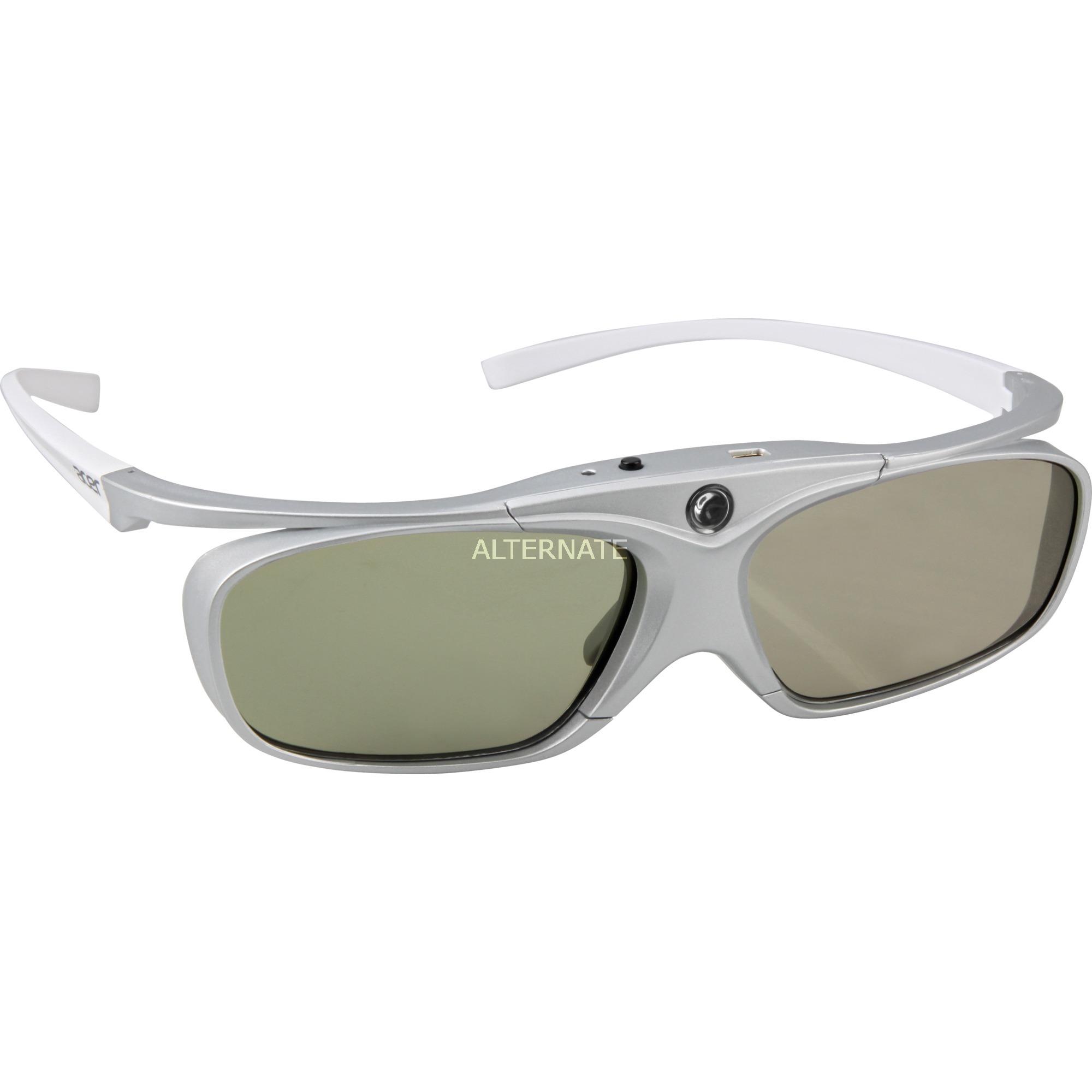 3D glasses E4w White / Silver gafas 3D estereóscopico Plata, Blanco 1 pieza(s)