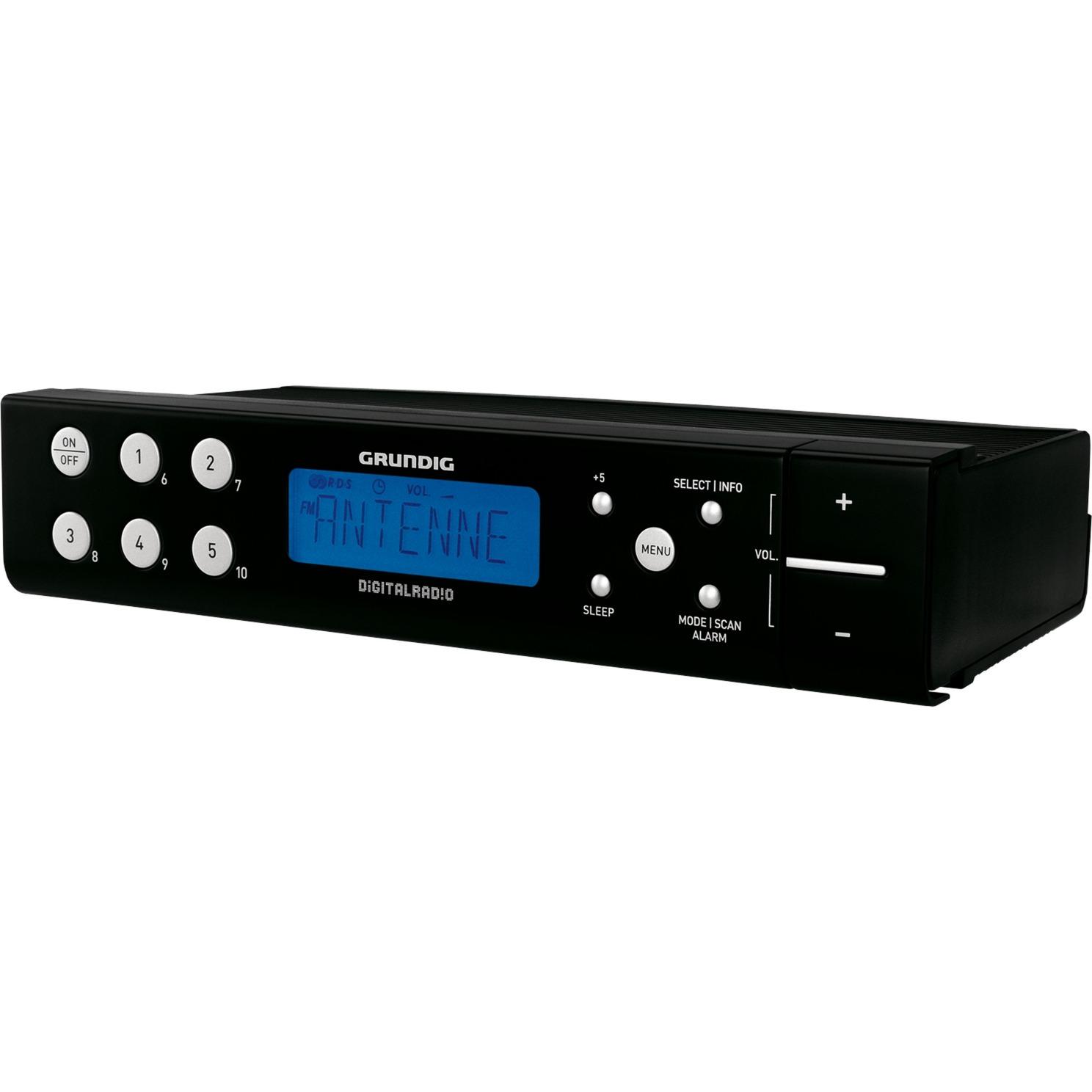 DKR 700 DAB+ Reloj Analógico y digital Negro radio