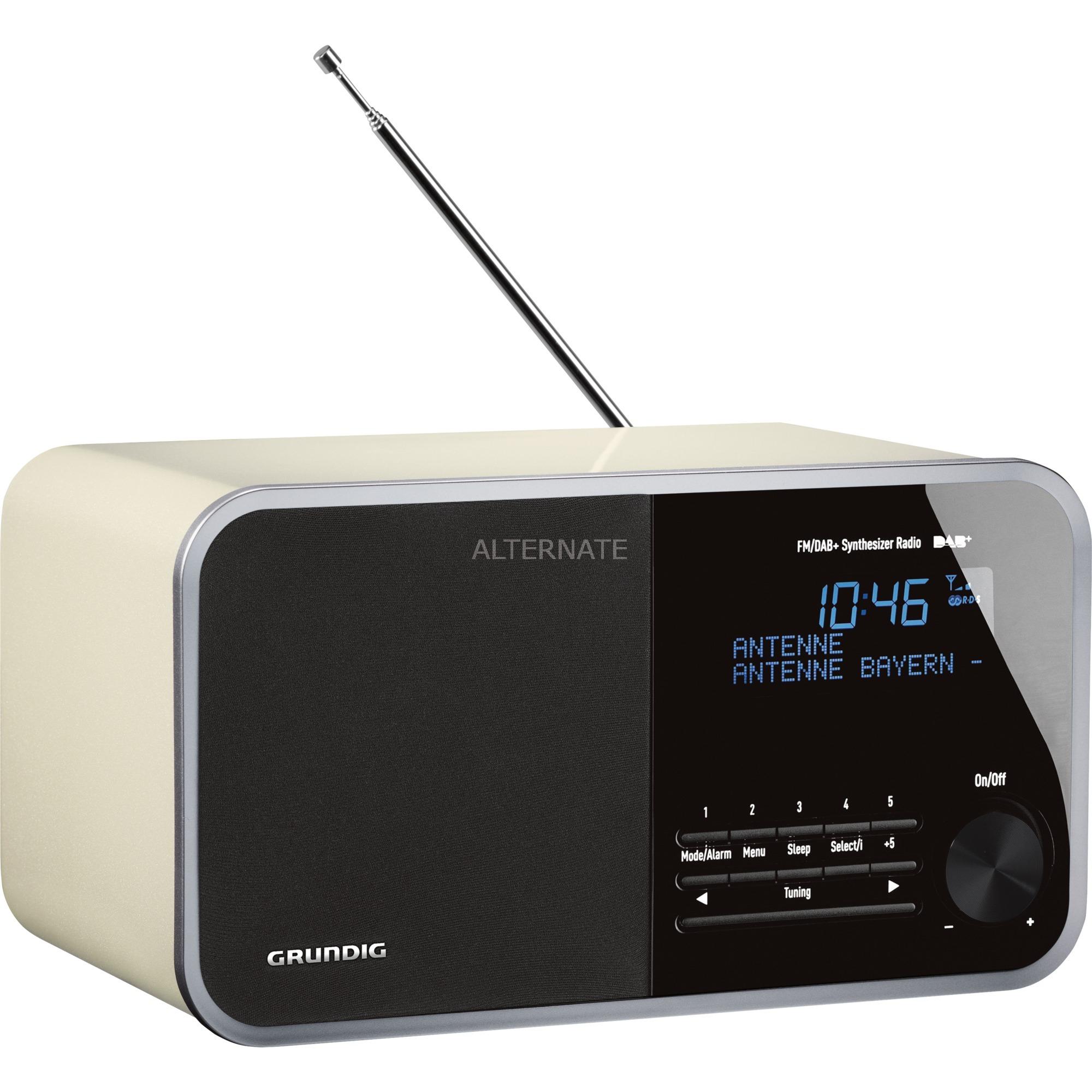 DTR 3000 DAB+ Personal Analógico y digital Blanco radio