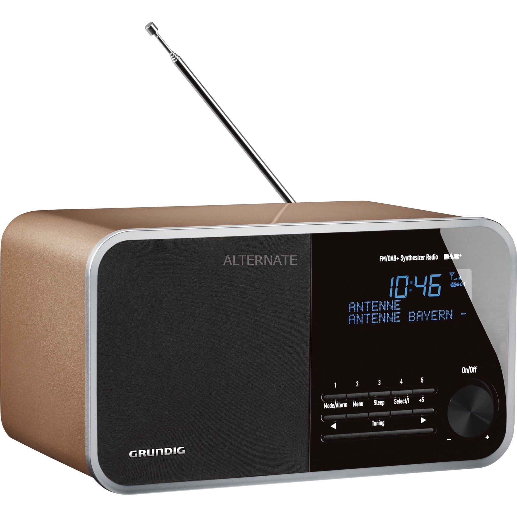 DTR 3000 DAB+ radio Personal Analógico y digital Champán