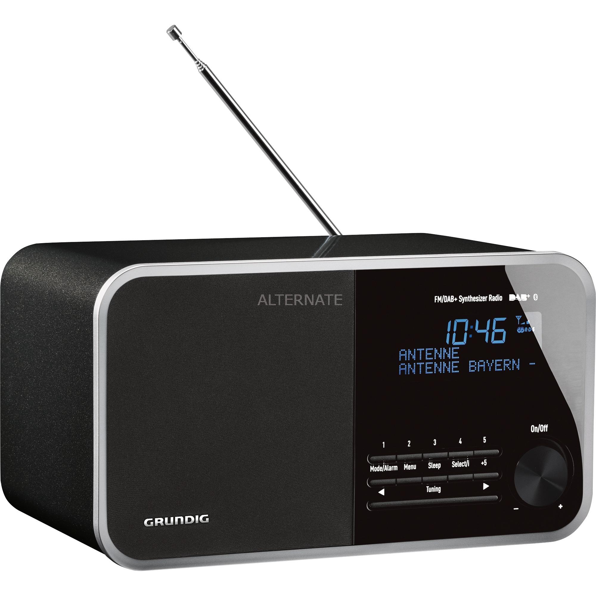 DTR 4000 DAB+ BT Reloj Negro radio