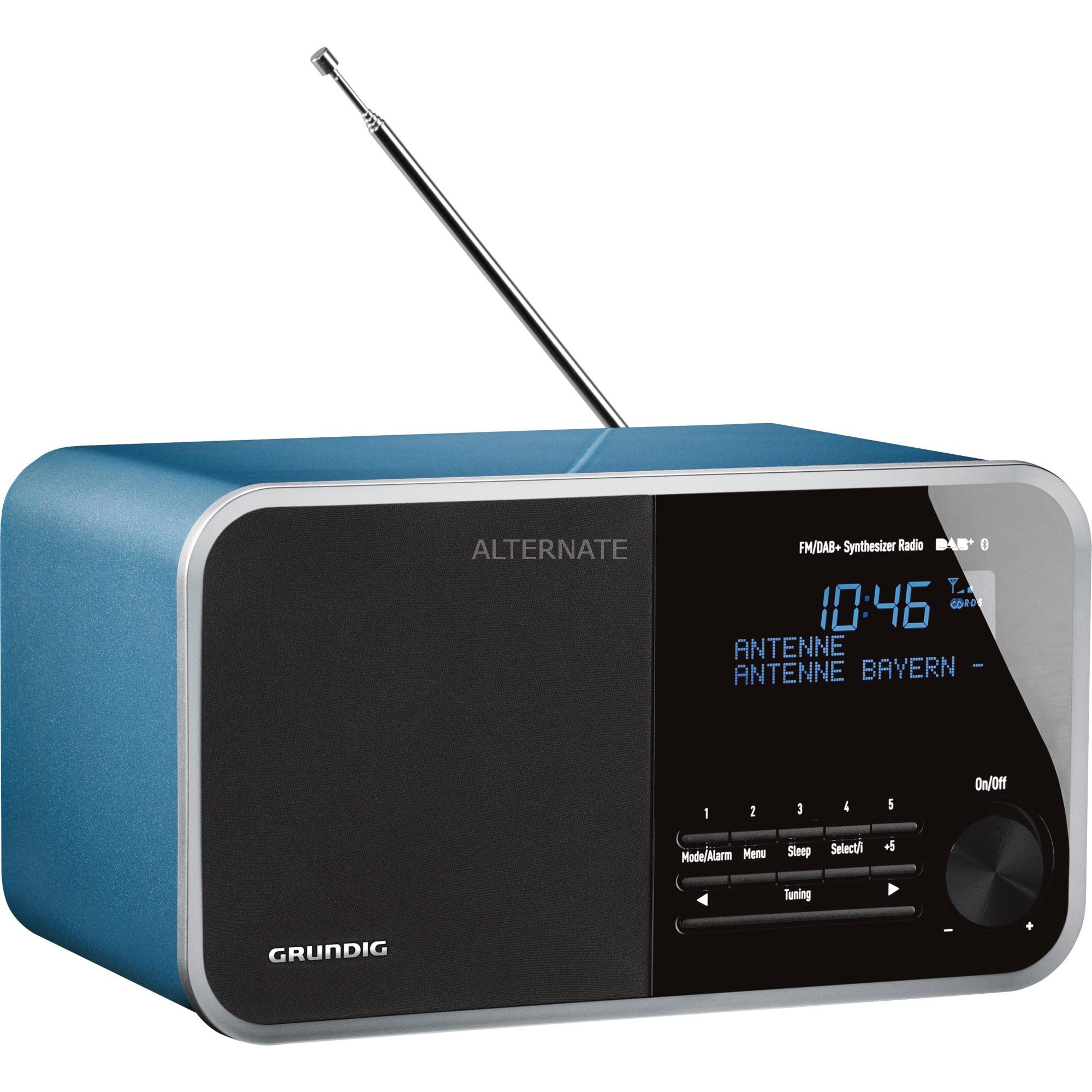 DTR 4000 DAB+ BT radio Reloj Azul