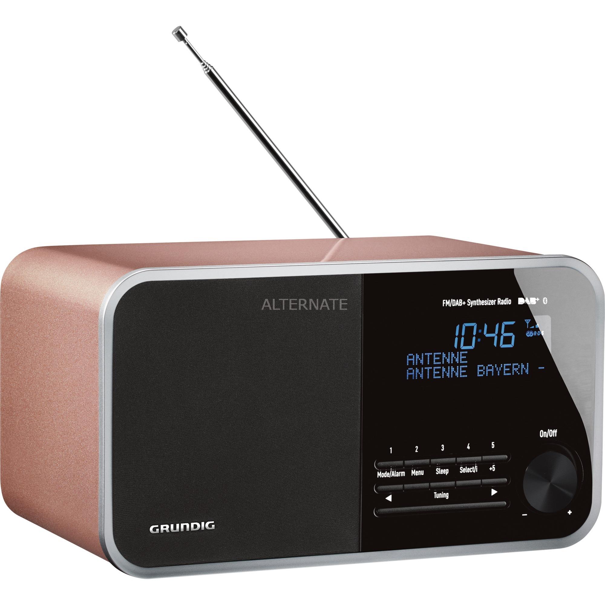DTR 4000 DAB+ BT radio Reloj Oro rosado