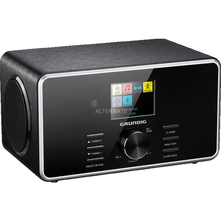 DTR 5000 2.0 BT DAB+ radio Personal Digital Negro, Radio por Internet