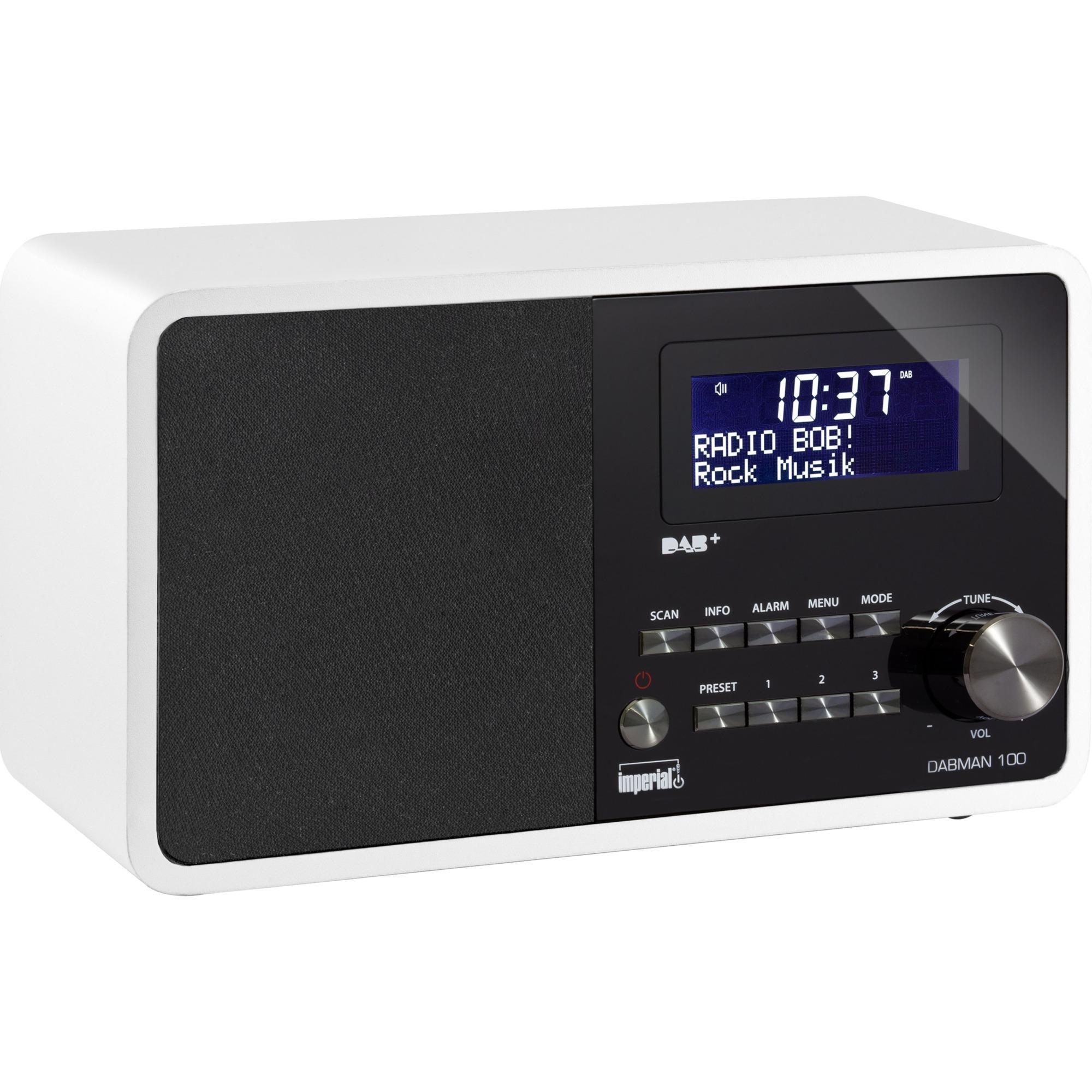 DABMAN 100 Portátil Digital Blanco radio