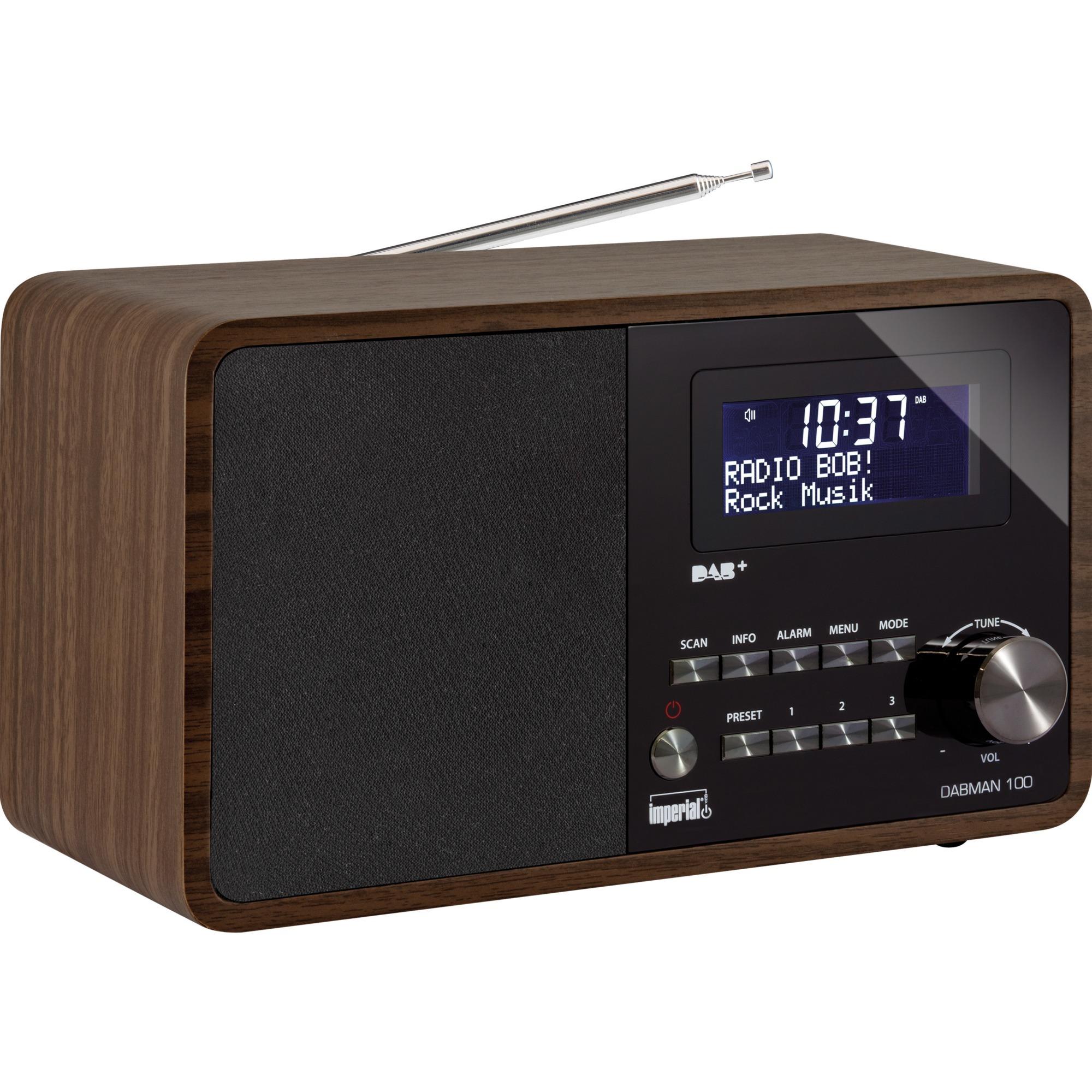 DABMAN 100 radio Portátil Digital Negro