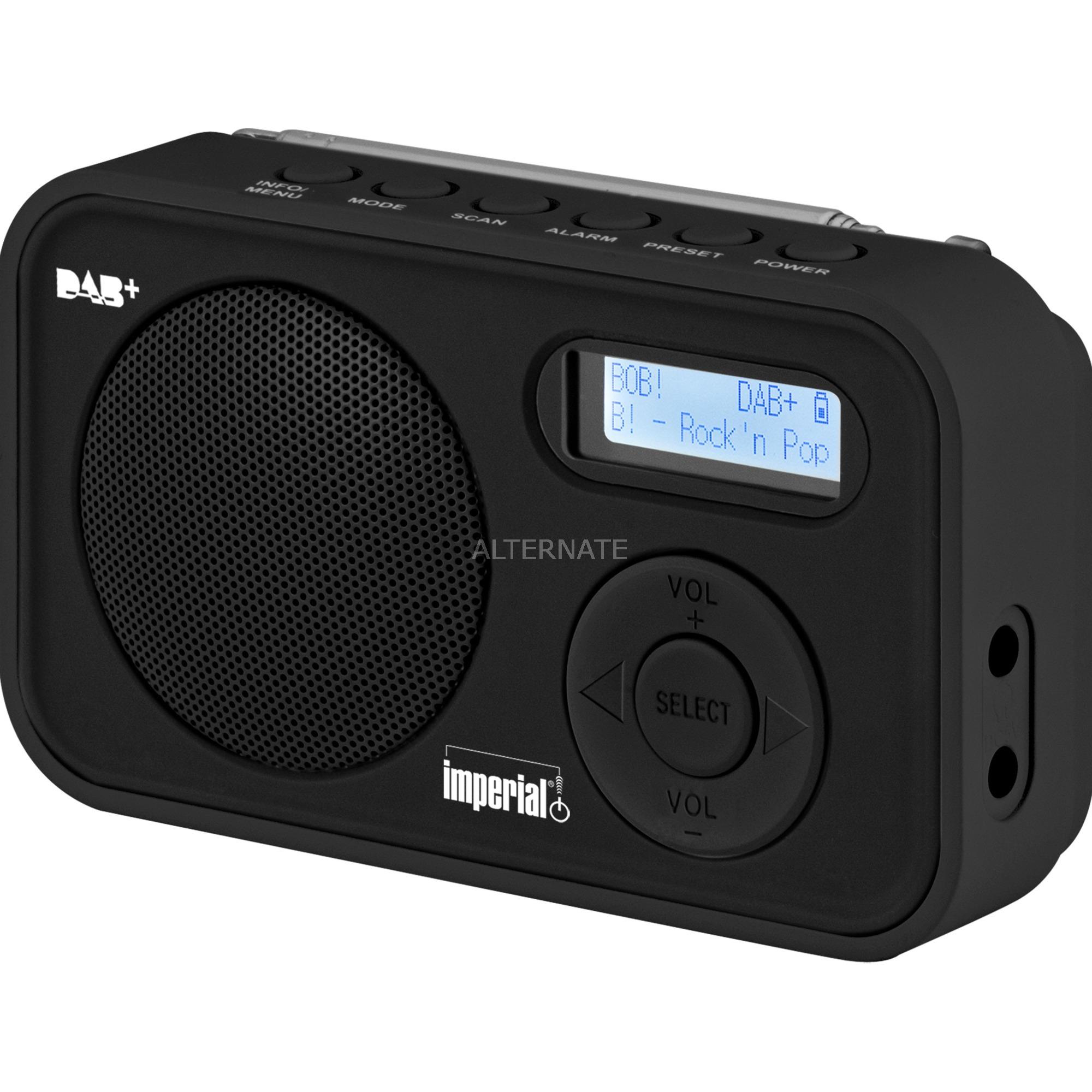 Dabman 12 radio Portátil Analógico y digital Negro