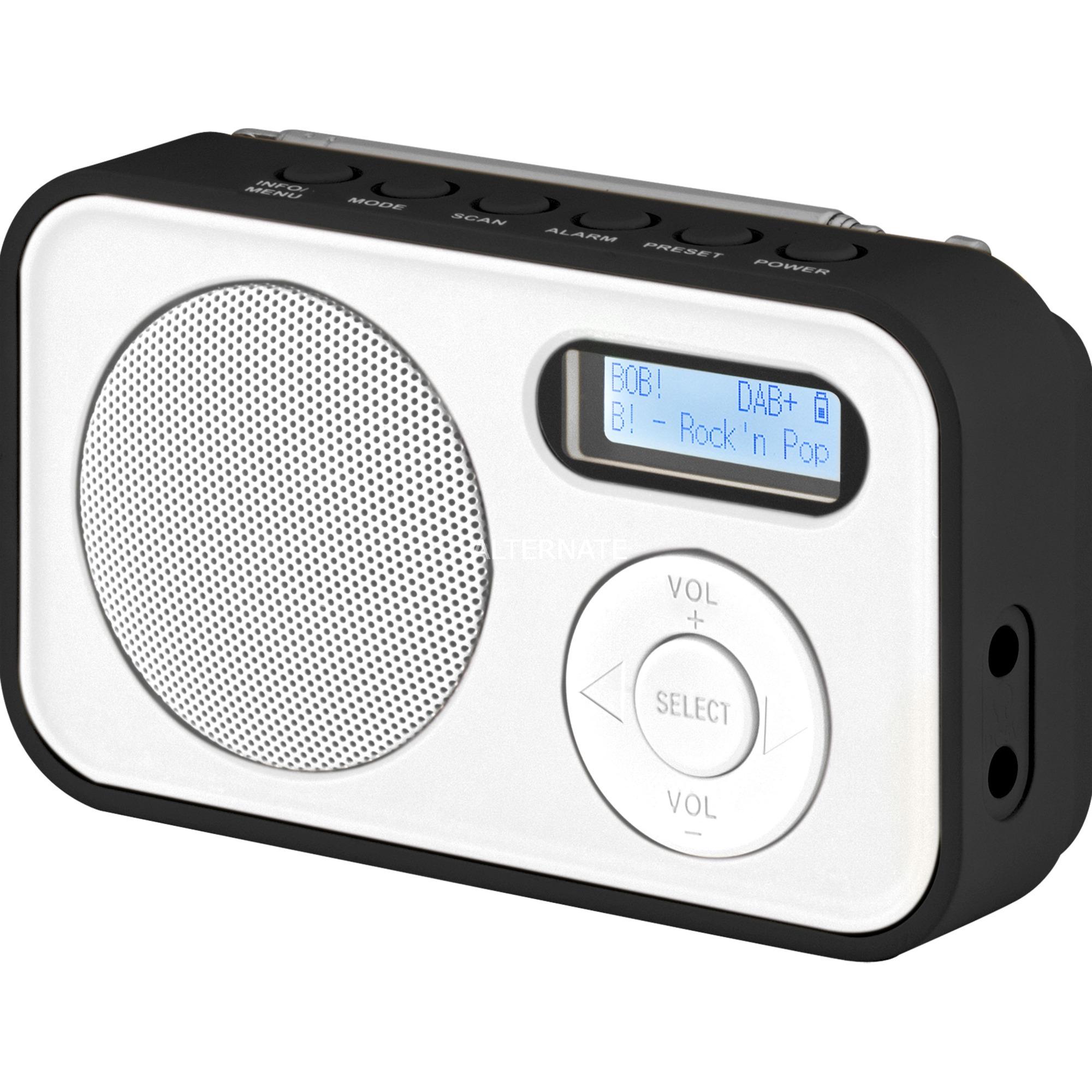 Dabman 12 radio Portátil Analógico y digital Negro, Blanco