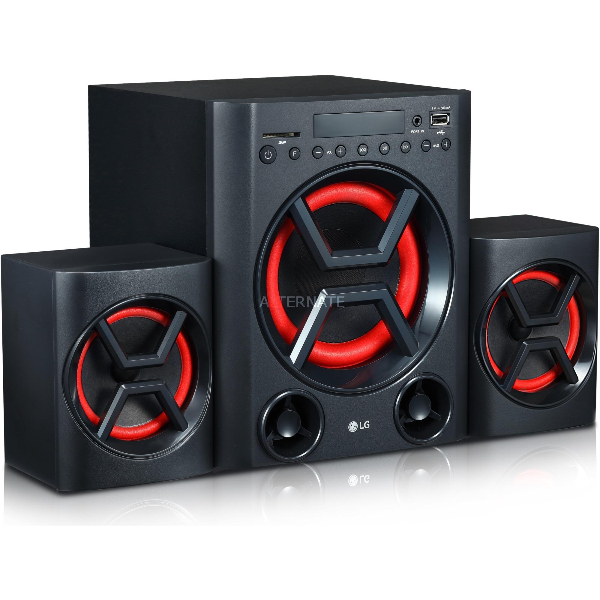 XBOOM conjunto de altavoces 2.1 canales 40 W Negro, Rojo, Equipo compacto
