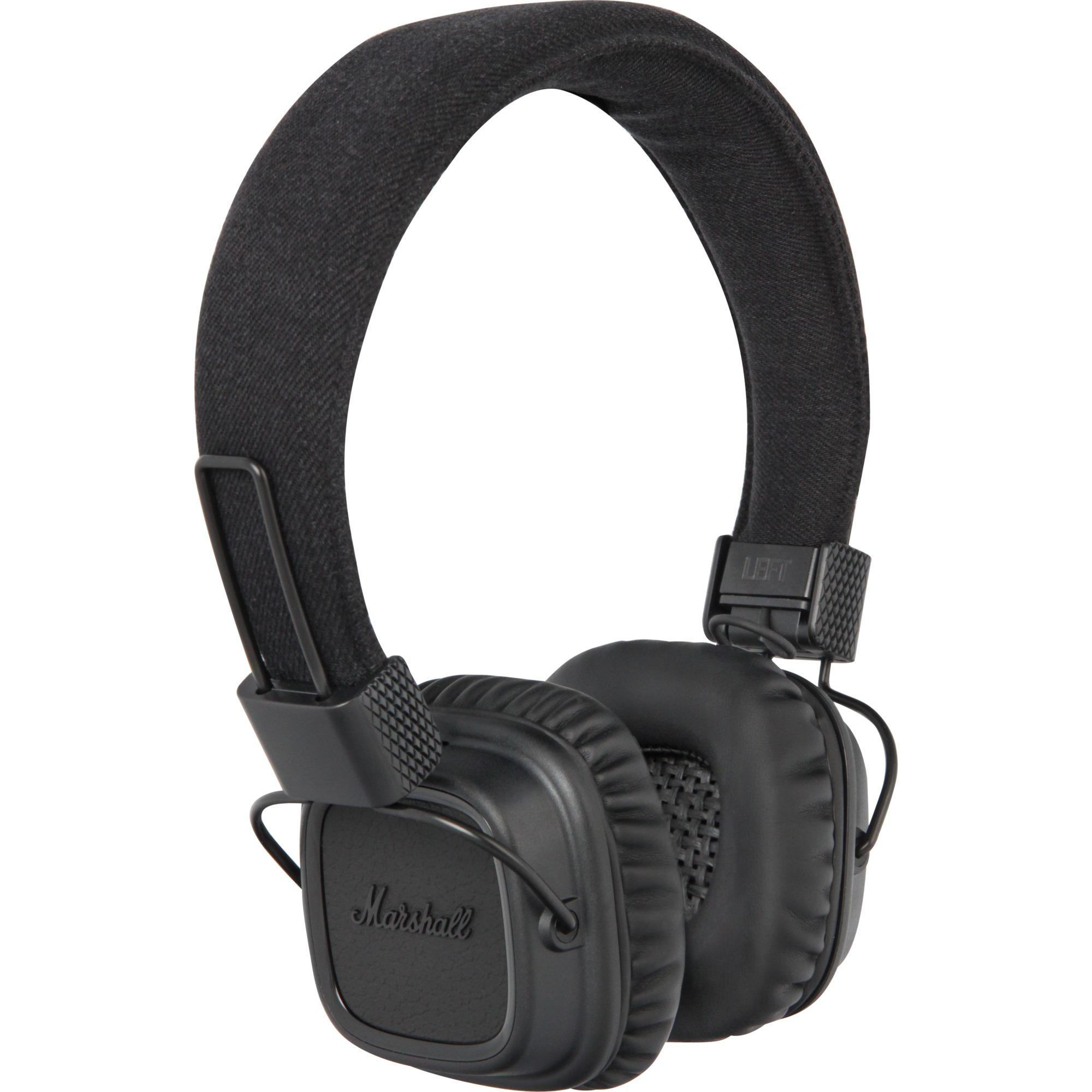 155691 Negro Supraaural Diadema auricular, Auriculares con micrófono