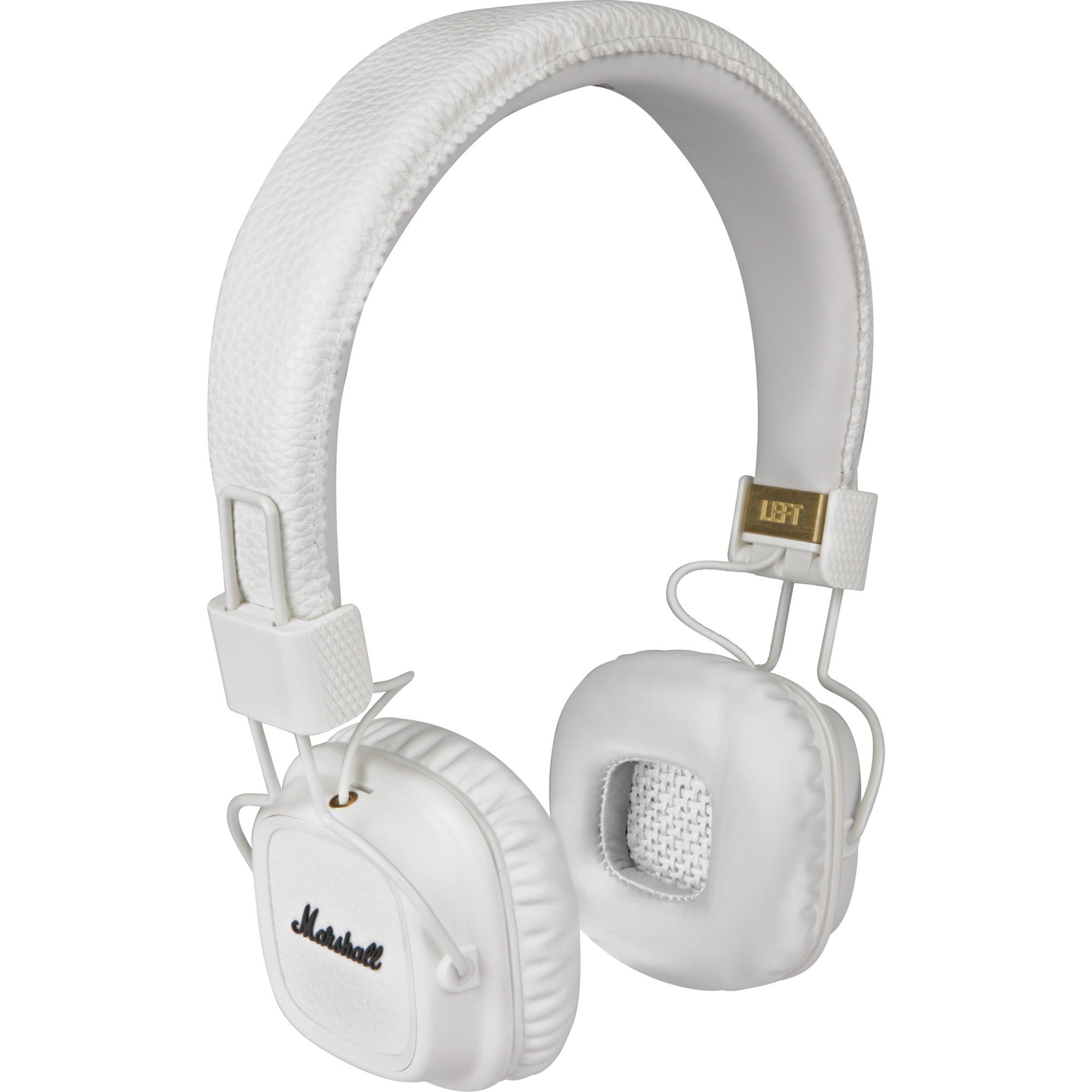 Major II Blanco Supraaural Diadema auricular, Auriculares con micrófono